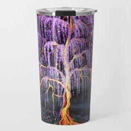 Electric Wisteria Willow Tree Travel Mug