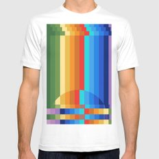 Waterfall Frustration MEDIUM White Mens Fitted Tee