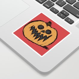 spoopy pumpkin Sticker