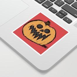 spoopy pumpkin Sticker
