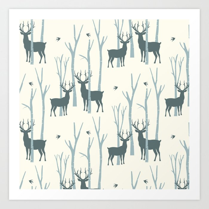 Woodland Forest 4 Art Print