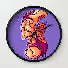 Misshapen Visage Wall Clock