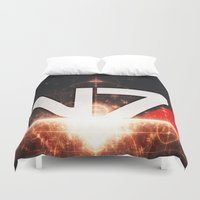mass effect Duvet Covers featuring Mass Effect N7 by Anthony.Ch