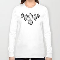 crystals Long Sleeve T-shirts featuring crystals by HiddenStash Art