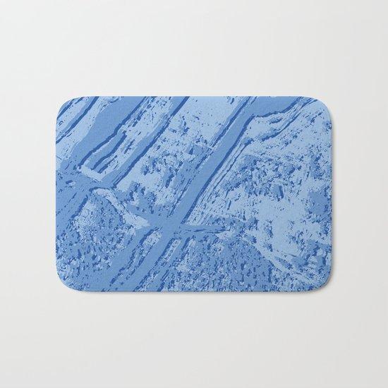 BLUE MARBLE EFFECT Bath Mat