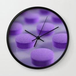 Violet Pills Pattern Wall Clock