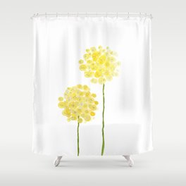 two abstract dandelions watercolor Shower Curtain