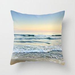 Serenity sea. Vintage Throw Pillow
