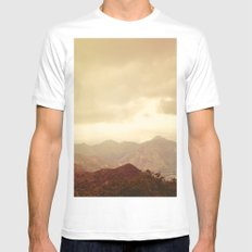 mountains (01) Mens Fitted Tee White MEDIUM