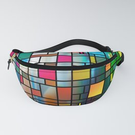 Abstract Modern Art Grid Pattern Fanny Pack