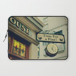 It's time for a pint! Sign - Fine Art Photography Laptop Sleeve