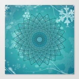 Ice Mandala Canvas Print