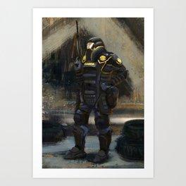 Dystopian Garda Art Print