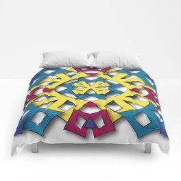 abstract aztec sun Comforters