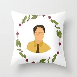 Dwight K Schrute Throw Pillow