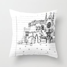 Childhood Drawings (Cathedral) Throw Pillow
