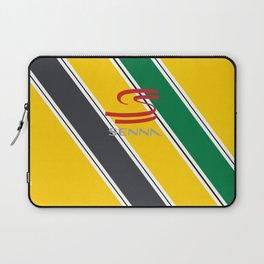 Ayrton Senna Stripes Logo Laptop Sleeve