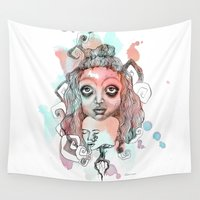 gypsy Wall Tapestries featuring Gypsy  by Kate Melendez