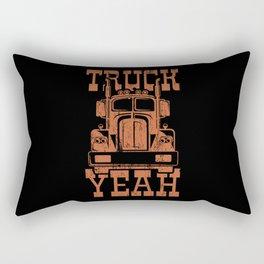 TRUCK YEAH Big Rig Truck Trucker Truck Driver Rectangular Pillow