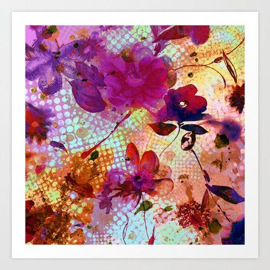flowers and light Art Print