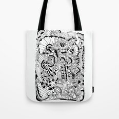 What hides a caress Tote Bag