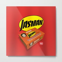 Jasman Superhero Suit Box - TV Metal Print