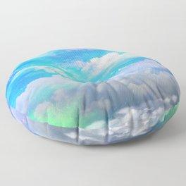 sea clouds Floor Pillow