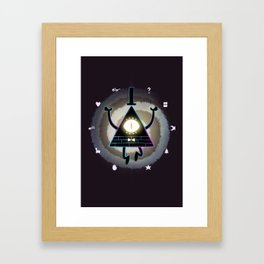 Bill Cipher Wheel Framed Art Print