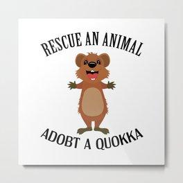 Quokka Australia Kangaroo Marsupial Animal Rescue Metal Print