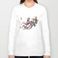 poop Long Sleeve T-shirts featuring Poop pulpo by Javier Medellin Puyou aka Jilipollo