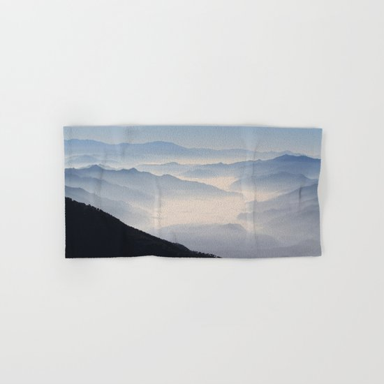 Blue Valley #mountains Hand & Bath Towel