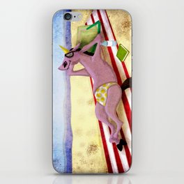 Itsy Bitsy Teenie Weenie Yellow Polka Dot Thong Unicorn iPhone Skin