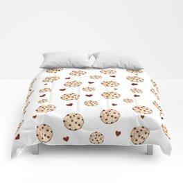 I Love Chocolate Chip Cookies Comforters