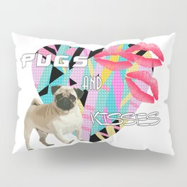 pugs and kisses Pillow Sham