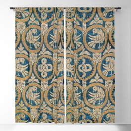 18th Century Spanish Textile Print Blackout Curtain