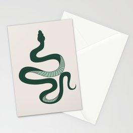 Green Snake Stationery Cards