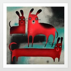 RED DOGS Art Print