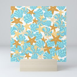 Starfish and Shells Mini Art Print