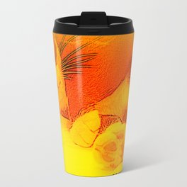 Me(ll)ow Yellow Travel Mug