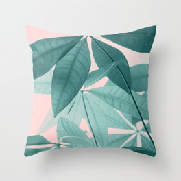 Pachira Aquatica #5 #foliage #decor #art #society6 Throw Pillow