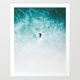 Chasing the wave Art Print