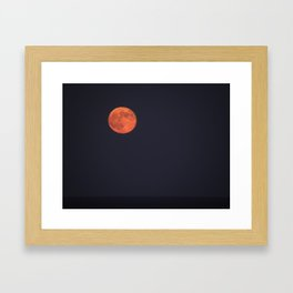 Beautiful red orb Framed Art Print