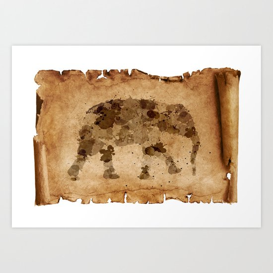 Elephant Tracks Art Print
