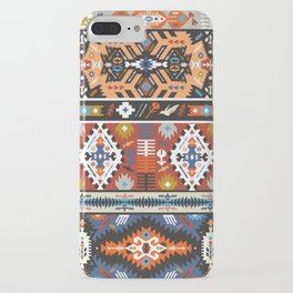 Fancy abstract geometric vector pattern in tribal style.cdr iPhone Case