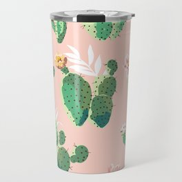 Vintage Cactus Pattern Travel Mug