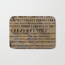 Runic alphabet Bath Mat