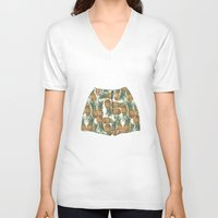pineapples V-neck T-shirts featuring Pineapples by Stephany Moreno