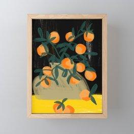 Oranges in vase No 03 Framed Mini Art Print