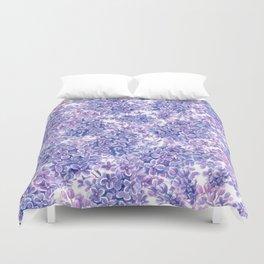 Violet watercolor lilac flowers Duvet Cover