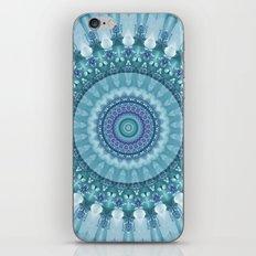 Turquoise and Navy Mandala iPhone & iPod Skin